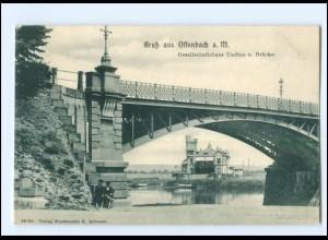 XX14070/ Offenbach Gesellschaftshaus Udine und Brücke AK 1905