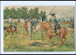 XX14068/ Deutscher Kriegerbund AK Lanzenübungen 1914 Husaren