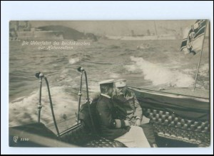 XX14056/ Überfahrt von Hindenburg u. Kaiser Wilhelm zur Hohenzollern Foto AK