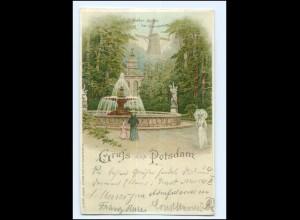 XX14098/ Gruß aus Potsdam Histor. Mühle Litho AK 1900
