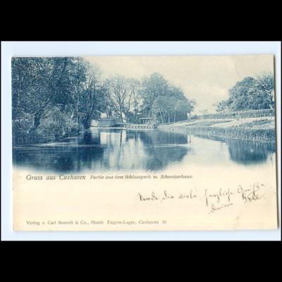 XX14094/ Cuxhaven Partie aus dem Schloßpark AK 1899