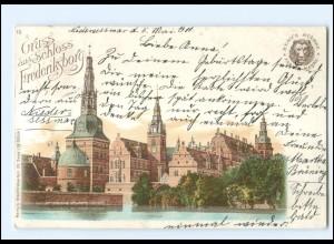 XX14092/ Gruß aus Schloß Frederiksborg Remy`s Stärke Reklame AK 1900