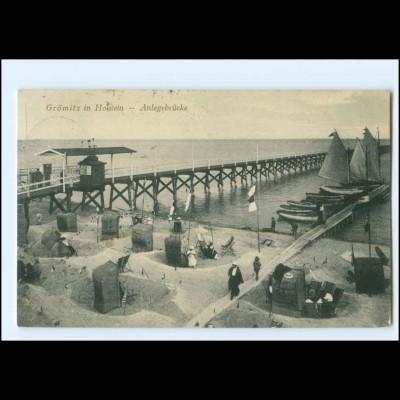 XX14091/ Ostseebad Grömitz Anlegebrücke AK 1914