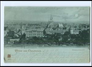 XX14047/ Gruß aus Osnabrück Mondschein AK 1898