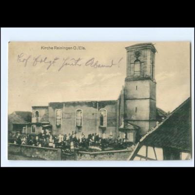 XX14052/ Kirche Reiningen Ober-Elsaß AK 1916