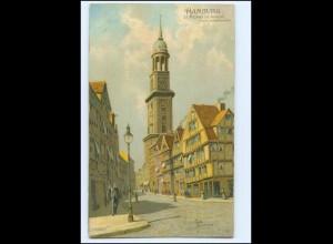 XX13926/ Hamburg Michaelis-Kirche Rob. Kämmerer Litho AK ca.1900