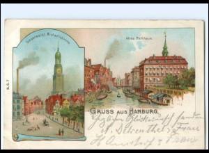 XX13925/ Gruß aus Hamburg Litho AK 1903
