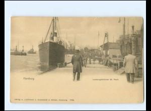 XX14275/ Hamburg Hafen Landungsbrücken St. Pauli Dampfer AK ca.1900