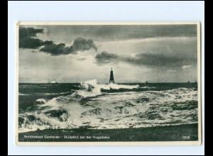 XX14398/ Cuxhaven Sturmflu bei der Kugelbake AK 1935