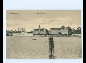 XX14324/ Sonderburg Marinestation Nordschleswig Dänemark AK 1915