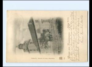 XX14440/ Gruß aus Neumünster Evangel. Kirche AK 1898