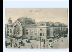 XX14336/ Kiel Bahnhof AK 1918