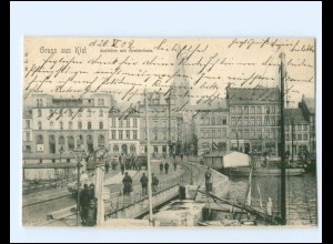 XX14341/ Kiel Bollhörn mit Drehbrücke AK 1902