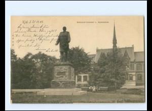 XX14342/ Kiel Bismarck-Denkmal + Gymnasium AK 1902