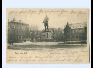 XX14344/ Gruß aus Kiel Bismarckdenkmal und Reichsbank AK 1902