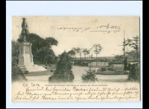 XX14349/ Kiel Denkmal des großen Kurfürsten AK 1902