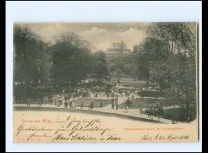XX14358/ Gruß aus Kiel Promenaden-Konzert AK 1899