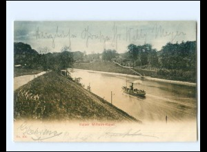 XX14359/ Holtenau Kiel Kaiser Wilhelm-Kanal AK 1905
