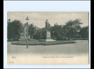 XX14360/ Kiel Bismarckdenkmal AK 1905