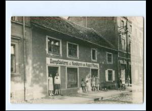 XX14474/ Dampfbäckerei & Konditorei August Plönzig Foto AK ca.1930 Ort?