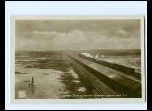 XX14287/ Sylt Hindenburgdamm Eisenbahn Foto AK ca.1925