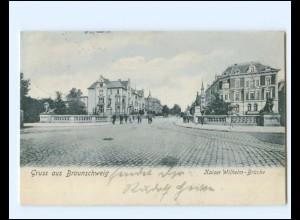 XX14395/ Braunschweig Kaiser Wilhelm-Brücke AK 1906