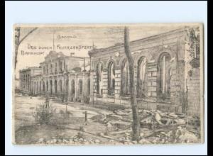 XX14317/ Grodno zerstörte Bahnhof 1. Weltkrieg AK 1915 Weißrussland