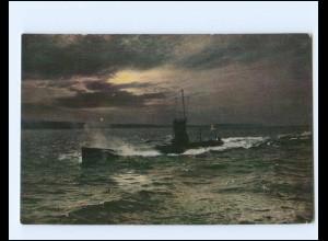 XX14318/ U-Boot in voller Fahrt Wohlfahrts AK Marine ca.1915