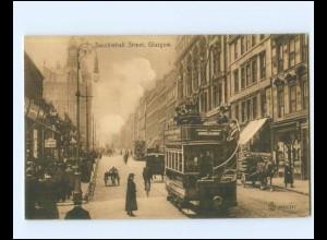 XX14209/ Glasgow Sauchiehall Street Tram Straßenbahn AK ca.1912 Schottland