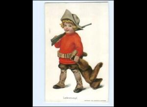 XX14205/ Lederstrumpf - Kind als Jäger mit Teddy 1907 Guttmann & Guttmann AK
