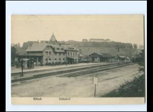XX14208/ Bitsch Lothringen Bahnhof Ak 1916