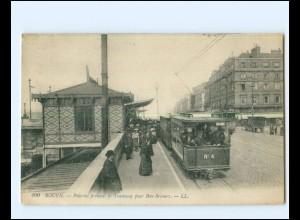 XX14204/ Rouen Tramway Straßenbahn AK Frankreich ca.1915 -760-