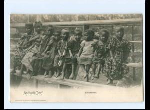 XX14482/ Aschanti Dorf Schulkinder Ghana AK ca.1900