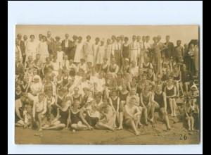 XX14259/ Büsum Badeleben Gruppenfoto am Strand Foto AK 1926