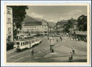 XX14445/ Heidelberg Bismarckplatz Straßenbahn AK 40/50er Jahre