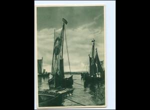 XX14446/ Ostpreußen ist schön! Fischerkähne auf dem Kurischen Haff AK 1938