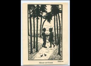 XX14432/ Hänsel und Gretel Märchen AK Schattenbild ca.1950