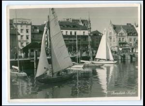 XX14186/ Rorschach Hafen Segelboote Foto AK 1950 Schweiz St. Gallen
