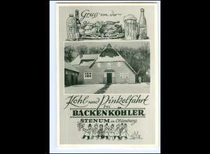 XX14434-2875/ Stenum bei Ganderkesee Backenköhlers Gaststätte AK ca.1950