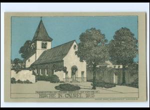 XX14563/ Kirche in Caurel Frankreich 1915 Litho Künstler AK Julius Jahr