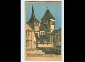 XX14561/ Lavannes Hindenburgplatz 1915 Litho Künstler AK Julius Jahr