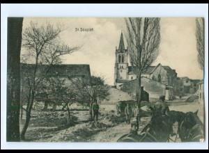 XX14532/ St. Souplet Frankreich AK 1. Weltkrieg ca. 1915