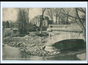 XX14534/ Mouzon gesprengte Brücke Frankreich AK 1. Weltkrieg ca. 1915