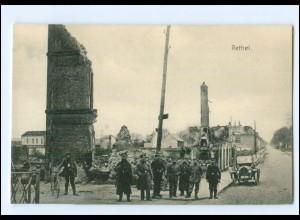 XX14541/ Rethel zerstört Frankreich AK 1. Weltkrieg ca. 1915