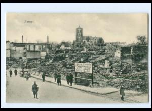 XX14542/ Rethel zerstört Frankreich AK 1. Weltkrieg ca. 1915