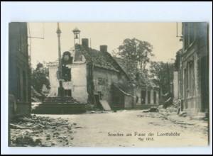XX14553/ Souchez am Fuße der Lorettohöhe Frankreich 1. Weltkrieg Foto AK 1915