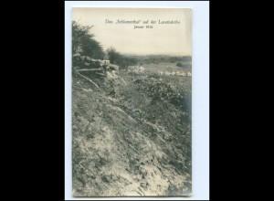 XX14554/ Das Schlammthal a.d. Lorettohöhe Frankreich 1. Weltkrieg Foto AK 1915