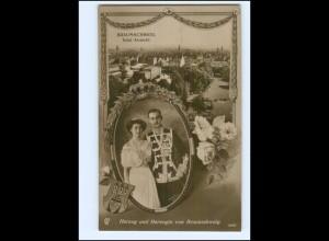 XX14565/ Braunschweig Herzog und Herzogin von Braunschweig Foto AK 1913 + SST