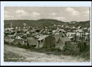 XX14576/ Westerland Sylt Campingplatz am Schützenhaus AK 60er Jahre