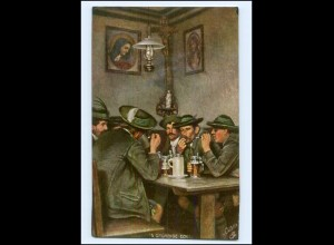 XX14629/ Tuck`s Postkarte AK Oberbayrische Volkstypen ca.1912 Bier